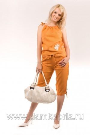 """Бриджи """"Рина"""" - интернет магазин одежды из льна Дамский Каприз"""