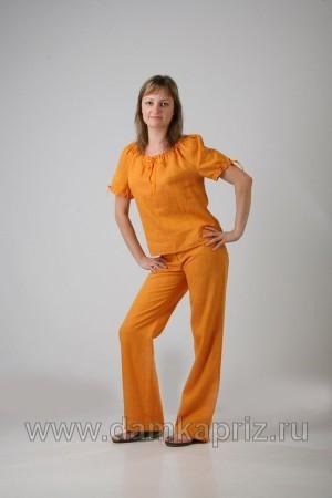 """Блуза """"Мария"""" - интернет магазин одежды из льна Дамский Каприз"""