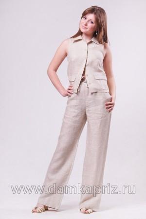 """Брюки """"Камилла"""" - интернет магазин одежды из льна Дамский Каприз"""