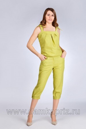 """Капри """"Карибы"""" - интернет магазин одежды из льна Дамский Каприз"""