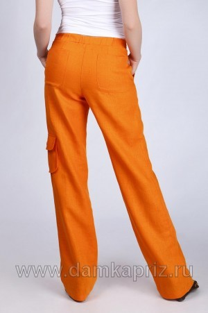 """Брюки """"Safari"""" - интернет магазин одежды из льна Дамский Каприз"""