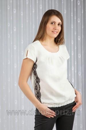 """Блуза """"Кружево"""" - интернет магазин одежды из льна Дамский Каприз"""