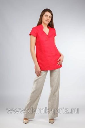 """Туника """"Sakura"""" - интернет магазин одежды из льна Дамский Каприз"""