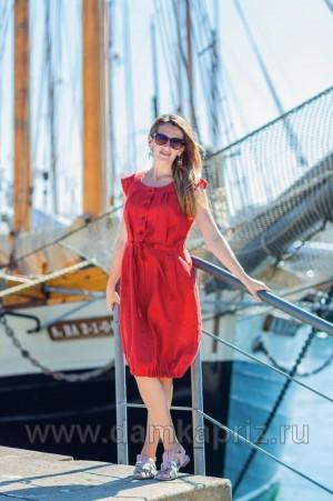"""Платье """"Бригантина"""" - интернет магазин одежды из льна Дамский Каприз"""