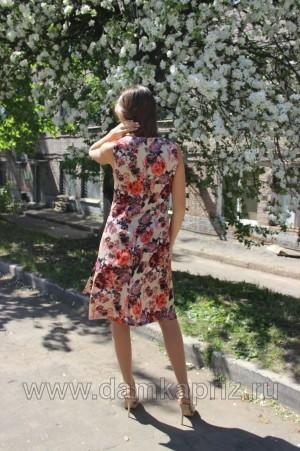 """Платье """"Розы"""" - интернет магазин одежды из льна Дамский Каприз"""