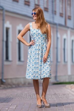 """Сарафан """"Цветы"""" - интернет магазин одежды из льна Дамский Каприз"""