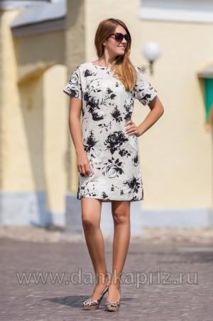 """Платье """"Джулианна"""" - интернет магазин одежды из льна Дамский Каприз"""