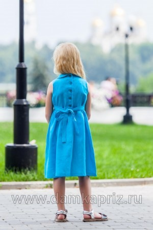 """Платье для девочки """"Василёк"""" - интернет магазин одежды из льна Дамский Каприз"""