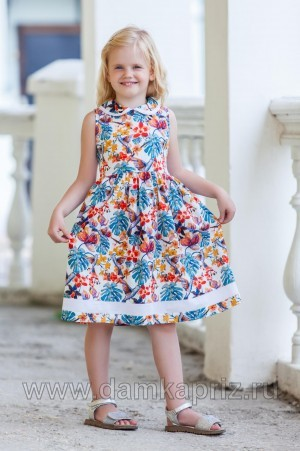 """Платье для девочки """"Колибри-2"""" - интернет магазин одежды из льна Дамский Каприз"""