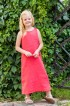 """Сарафан для девочки """"Аленький цветочек"""" - интернет магазин одежды из льна Дамский Каприз"""