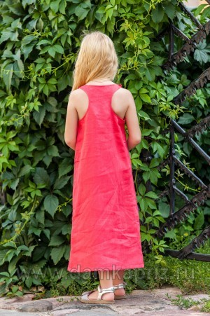Сарафан для девочки - интернет магазин одежды из льна Дамский Каприз