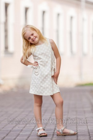 """Платье для девочки """"Люси"""" - интернет магазин одежды из льна Дамский Каприз"""