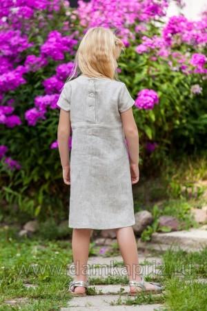 """Платье для девочки """"Цветочное настроение"""" - интернет магазин одежды из льна Дамский Каприз"""