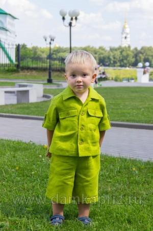 """Рубашка для мальчика """"Крепыш"""" - интернет магазин одежды из льна Дамский Каприз"""
