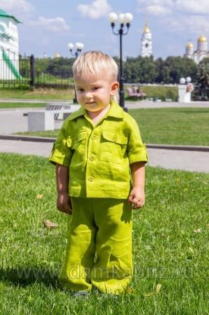 """Брюки для мальчика """"Барни"""" - интернет магазин одежды из льна Дамский Каприз"""