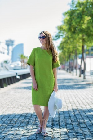 """Платье """"Милагрес"""" - интернет магазин одежды из льна Дамский Каприз"""