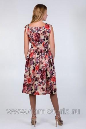 """Сарафан """"Розы-2"""" - интернет магазин одежды из льна Дамский Каприз"""