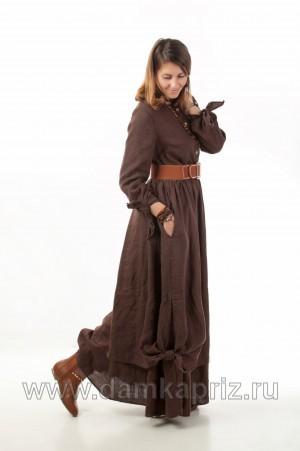 """Платье """"Лиза"""" - интернет магазин одежды из льна Дамский Каприз"""