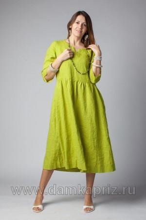 """Платье """"Виктория"""" - интернет магазин одежды из льна Дамский Каприз"""