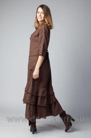 """Платье """"Анжелика"""" - интернет магазин одежды из льна Дамский Каприз"""