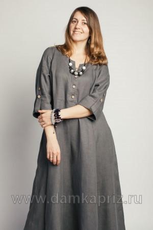"""Платье """"Каролина"""" - интернет магазин одежды из льна Дамский Каприз"""