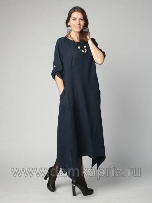 """Платье """"Влада"""" - интернет магазин одежды из льна Дамский Каприз"""