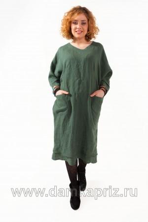 """Платье """"Инга"""" - интернет магазин одежды из льна Дамский Каприз"""