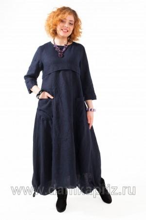 """Платье """"Эмма"""" - интернет магазин одежды из льна Дамский Каприз"""