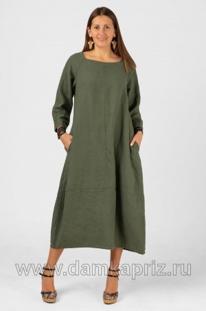 """Платье """"Аврора"""" - интернет магазин одежды из льна Дамский Каприз"""