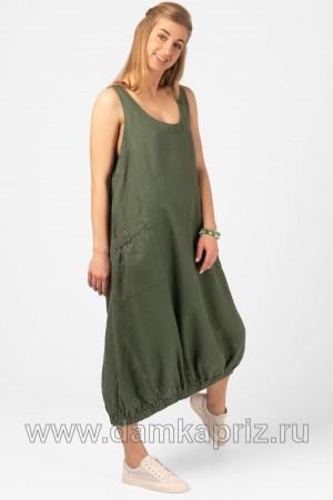 """Сарафан """"Алма"""" - интернет магазин одежды из льна Дамский Каприз"""